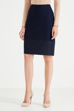 Черная комбинированная юбка St. John 1655149876