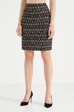 Черная юбка с узором St. John 1655149890