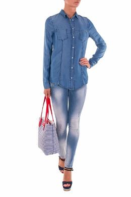 Голубые джинсы с декоративными элементами Patrizia Pepe 1748152693