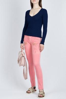 Розовые джинсы с вышивкой Patrizia Pepe 1748152563