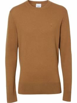 Burberry кашемировый свитер с монограммой 8018696