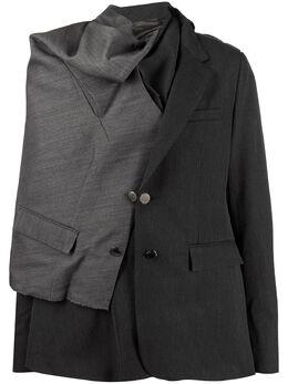 Fumito Ganryu пиджак асимметричного кроя FU2JA08