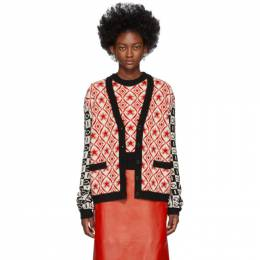 Gucci Black and Red Colourblocked G Cardigan 595686 XKA0V