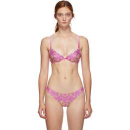 Fleur Du Mal Pink Lace Lily Bra BR0114