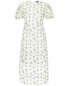 Markus Lupfer прозрачное платье с цветочной вышивкой DR1000