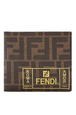 Складное портмоне с фирменной отделкой Fendi 1632152905