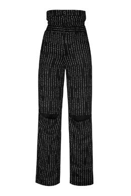 Черные брюки с контрастной отделкой Unravel Project 2852151889