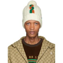 Gucci White Wool Ski Beanie 587816 4G978