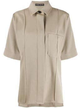 Kwaidan Editions рубашка оверсайз с короткими рукавами AW19T028WTC