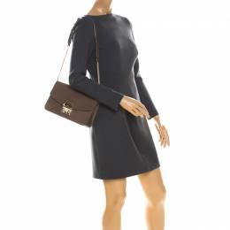Furla Light Brown Leather Metropolis Crossbody Bag