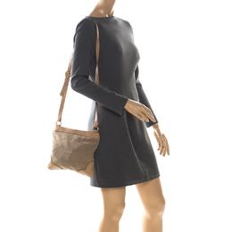 Prada Beige/Brown Logo Jacquard Fabric and Canvas Crossbody Bag 225604