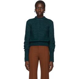 Chloe Green Alpaca and Silk Sweater CHC19WMP14560