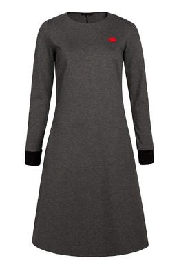 Серое платье с аппликацией Terekhov Girl 2138152864
