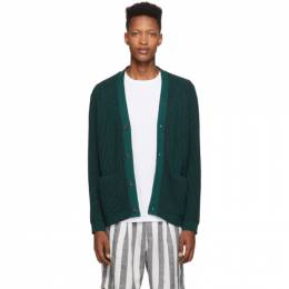 Saturdays Nyc Black and Green Stefan Cardigan M41913SF01
