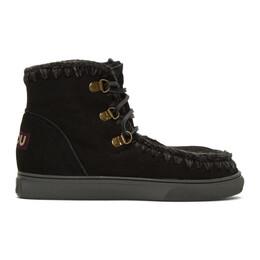 Mou Black Sneaker Lace-Up Boots MU.FW111002A
