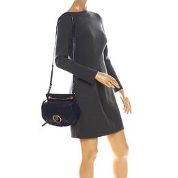 Chloe Blue Leather Motty Crossbody Bag 225289