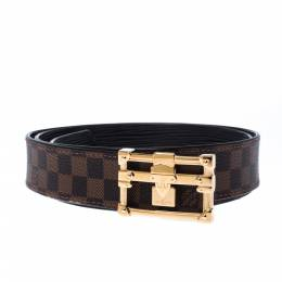 Louis Vuitton Damier Ebene Malle Reversible Belt 90cm