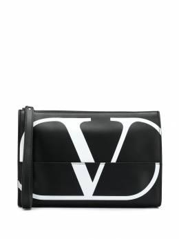 Valentino Garavani клатч с принтом Go Logo YB0758XCU
