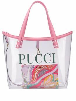 Emilio Pucci прозрачная сумка-тоут с логотипом 9HBC539H085