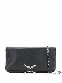 Zadig & Voltaire foldover zipped clutch PWGAP2003F