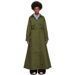 Jacquemus Khaki Le Manteau Thika Coat 193CO03-193 30570