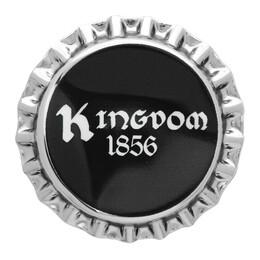 Burberry Silver and Black Bauhaus Bottle Cap Pin 8022025