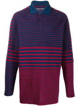 Martine Rose полосатая рубашка-поло свободного кроя MRAW19629B