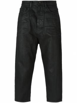 Rick Owens DRKSHDW укороченные вощеные джинсы DU19F6357BW