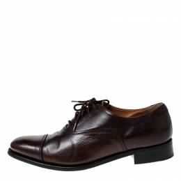 Church'S Brown Leather Toronto Lace Up Oxfords Size 37 Church's