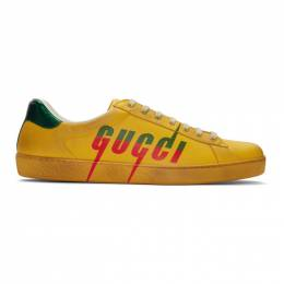 Gucci Yellow Blade New Ace Sneakers 576137 A38V0