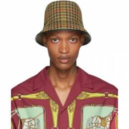 Gucci Beige Plaid Bucket Hat 595194 4HH72