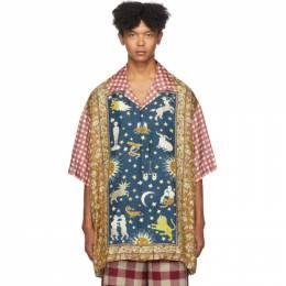 Gucci Multicolor Zodiac Rug Panel Short Sleeve Shirt 574559 ZACPB