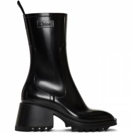 Chloe Black PVC Betty Rain Boots CHC19W239G8