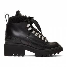 Chloe Black Shearling Bella Mountain Boots CHC19W245H5