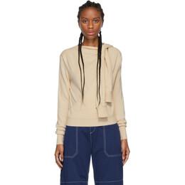 Chloe Beige Cashmere Tie-Knot Iconic Sweater CHC19WMP53500