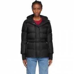 Kenzo Black Hooded Puffa Jacket F962OU047565