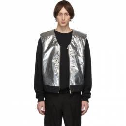Ambush Silver and Black Padded Vest 12111812