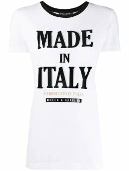 Dolce&Gabbana футболка с принтом Made in Italy F8H32TG7TYL