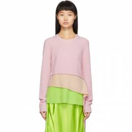 Sies Marjan Pink and Green Sae Tiered Sweater 13CK8033-HESTIAKN