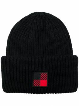 Woolrich шапка бини с нашивкой-логотипом WOACC1649UF0096