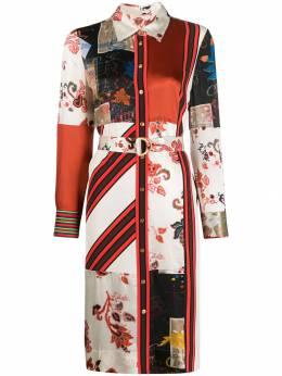 Tory Burch платье-рубашка с принтом в технике пэчворк 60131