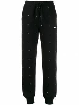 MSGM спортивные брюки с кристаллами 2742MDP163195799