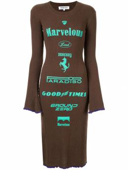 Ground Zero трикотажное платье с принтом F19KN432