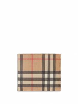 Burberry бумажник в клетку Vintage Check 8016618