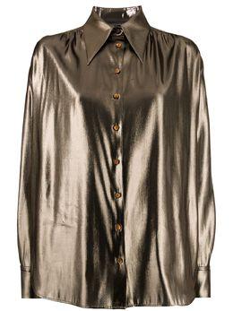 Alberta Ferretti рубашка с эффектом металлик A02255134