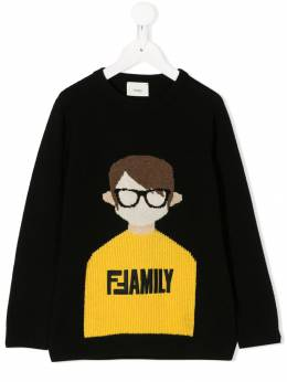 Fendi Kids джемпер с принтом Boy JMG057A8L7