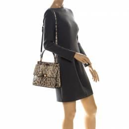 Balenciaga Cream Python Le Dix Cartable S Top Handle Bag 227024