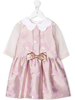 Hucklebones London платье с волнистым воротником AW19502