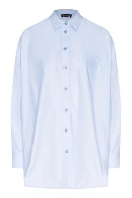 Расклешенная голубая рубашка Emporio Armani 2706154181