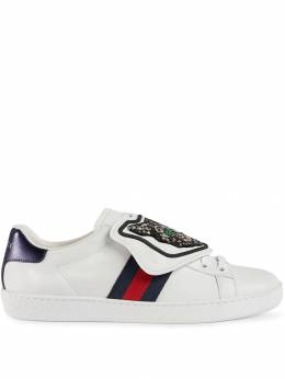 Gucci кроссовки 'Ace' со съемным декором 5066350FI10
